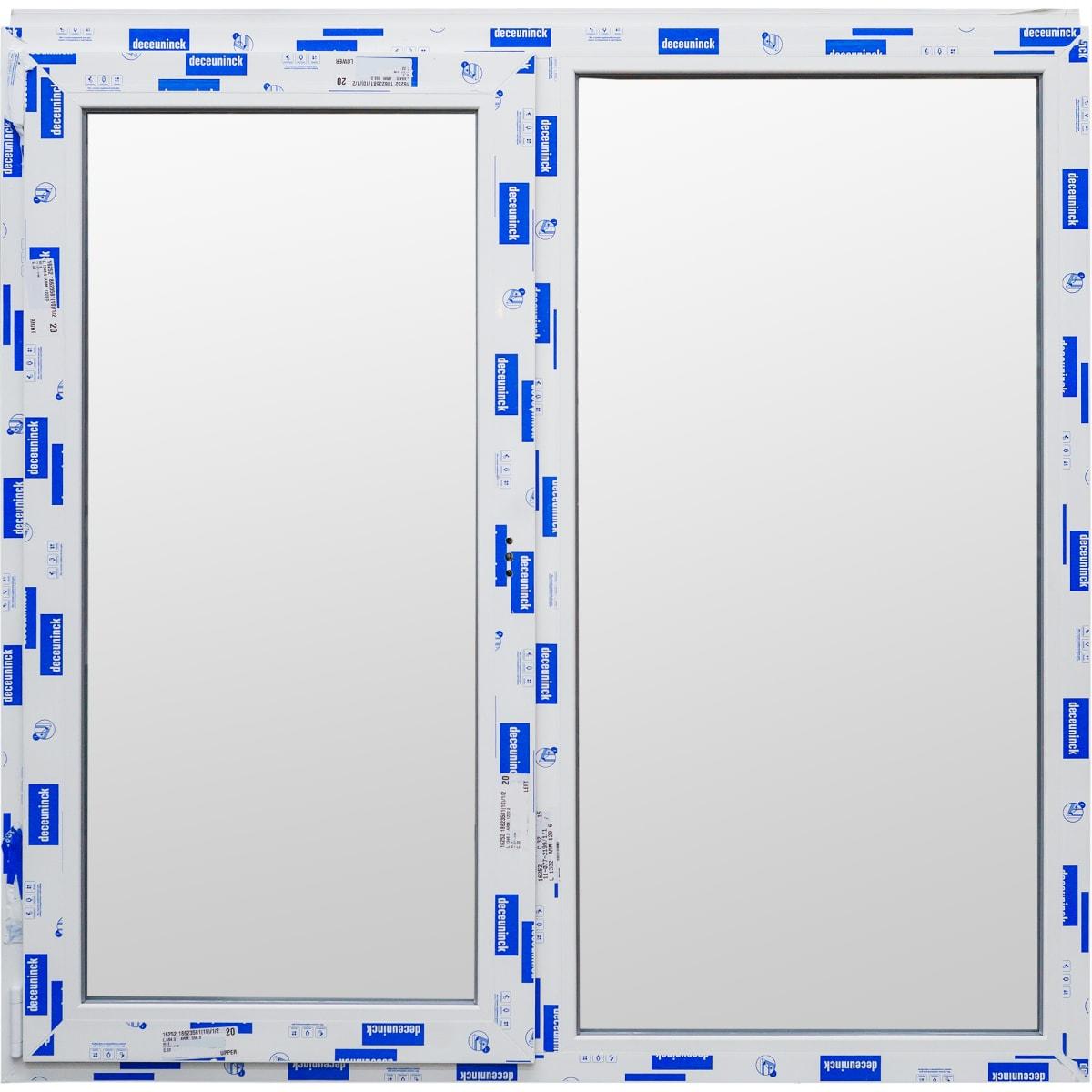Окно ПВХ двустворчатое 144х145 см поворотно-откидное левое/глухое