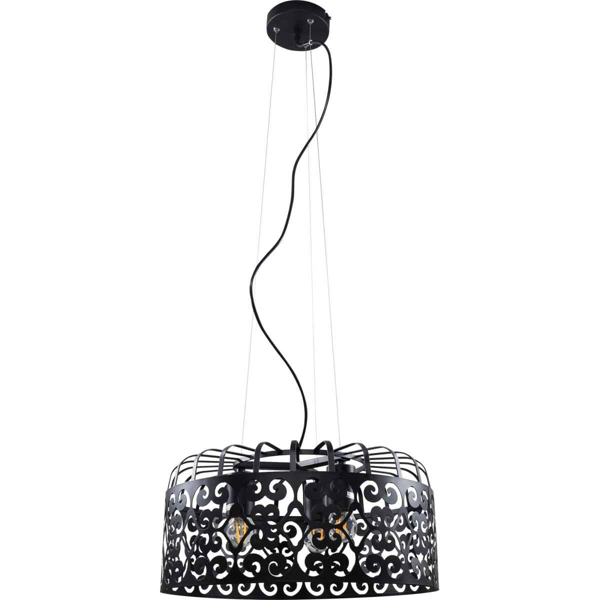Светильник Marcia 3xE27x60 Вт, 40 см, цвет чёрный
