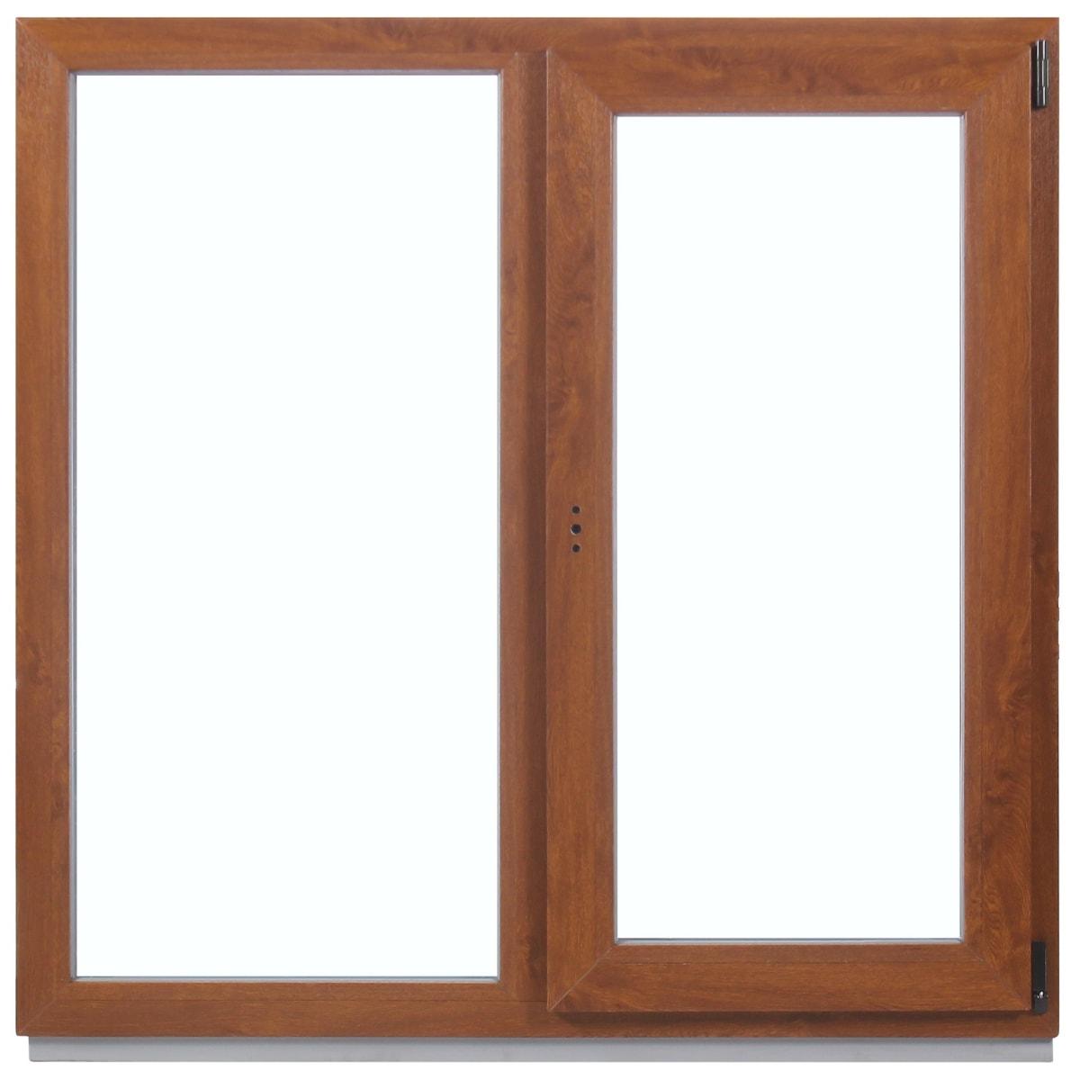 Окно ПВХ двухстворчатое, 120x100 см, глухое/поворотно-откидное правое
