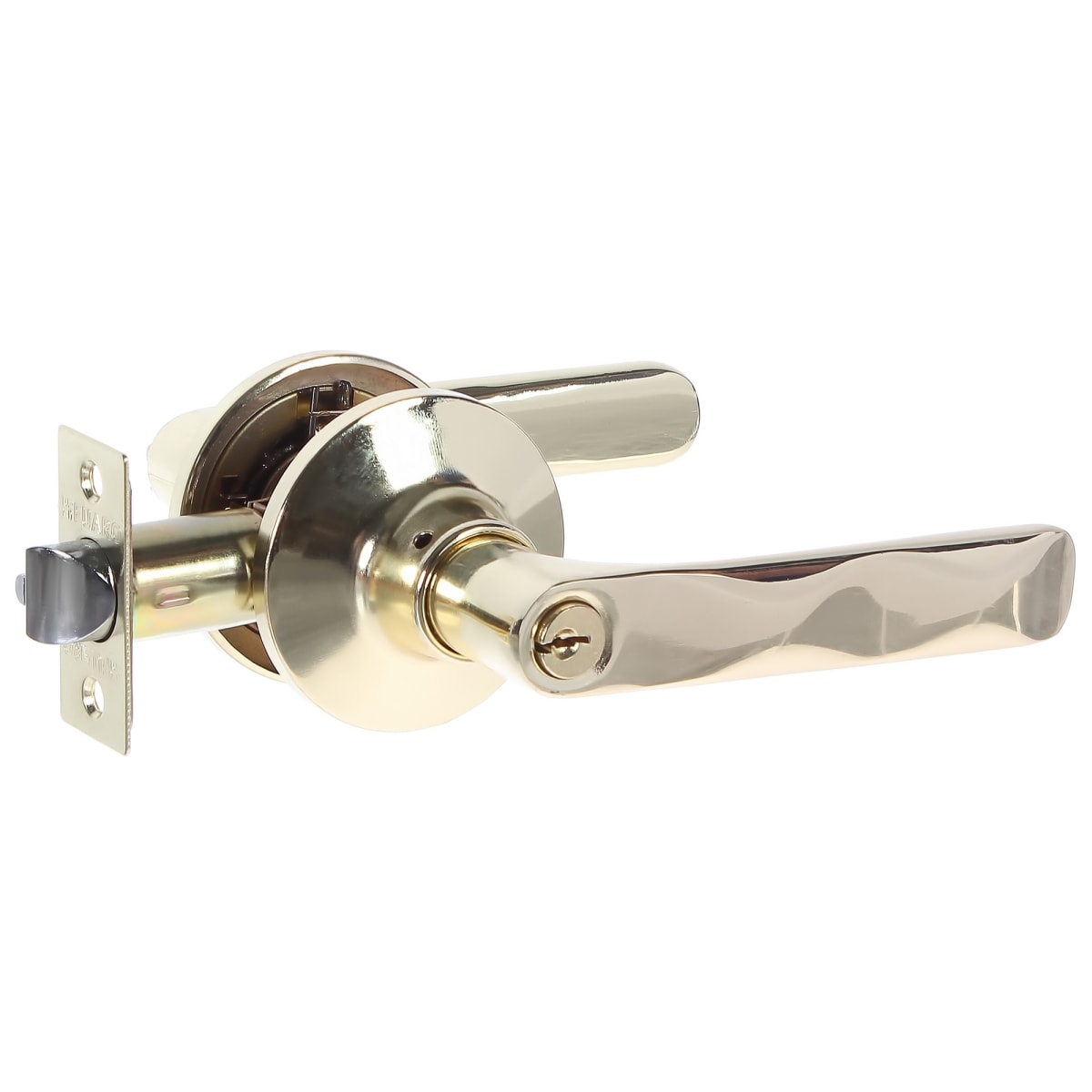 Ручка-защелка 624/BL PB-E, с фиксатором, с ключом, цвет золото