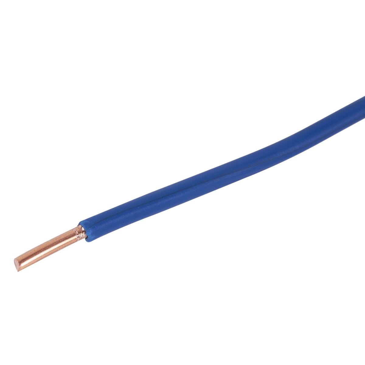 Провод ПуВ 1х4 на отрез цвет голубой