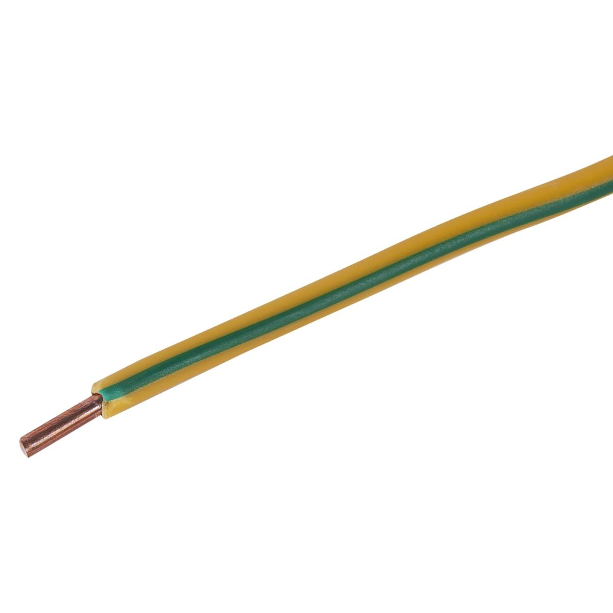 Провод ПуВ 1х4, на отрез, цвет жёлтый