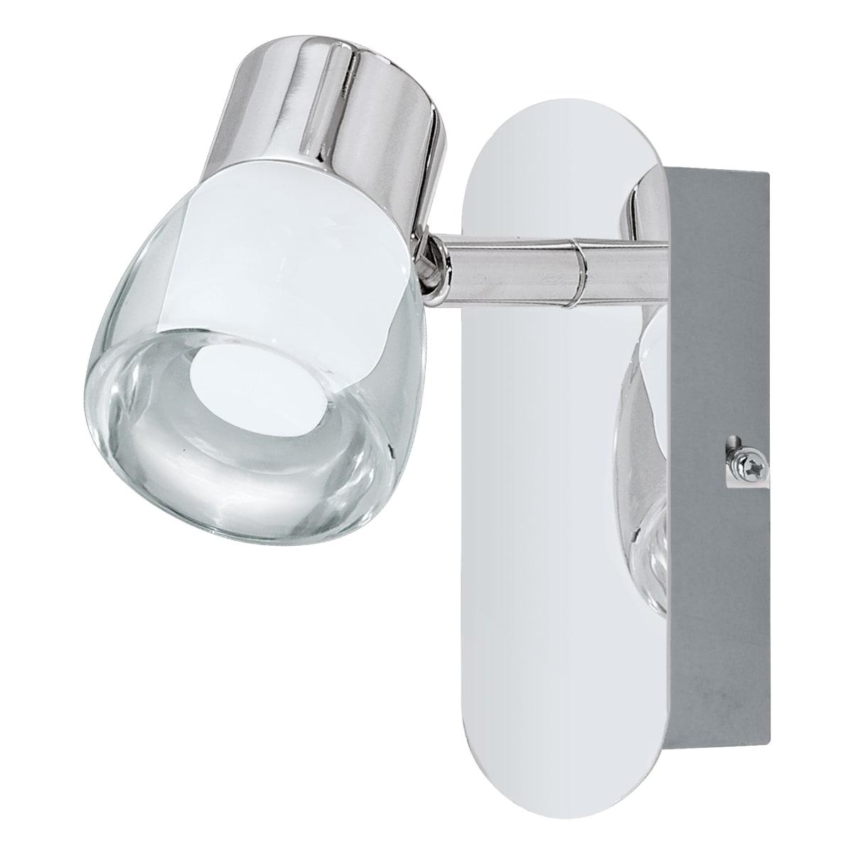 Спот поворотный светодиодный Eglo Perito, 2 м², тёплый белый свет, цвет серебристый