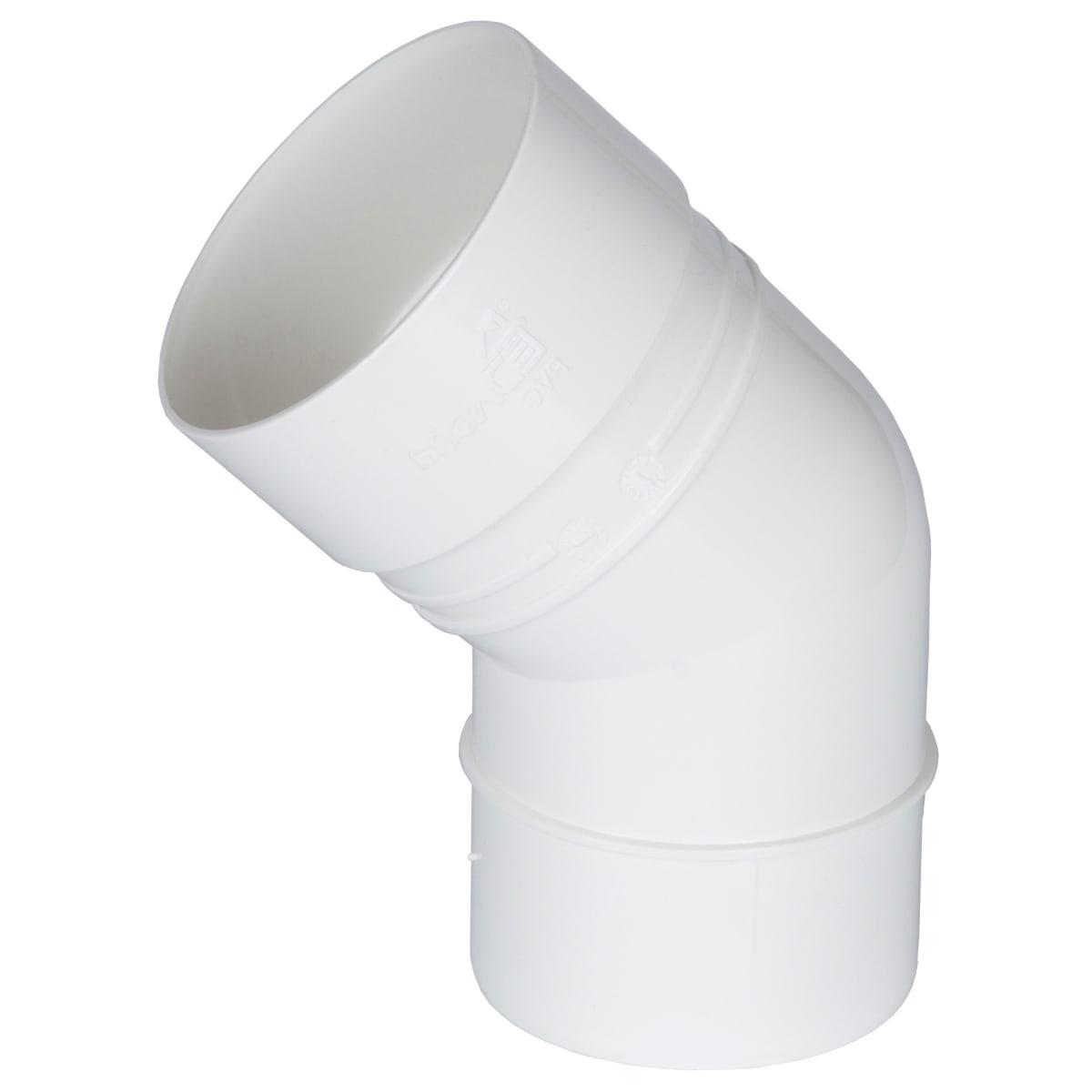 Колено Dacha 80 мм 45 градусов цвет белый
