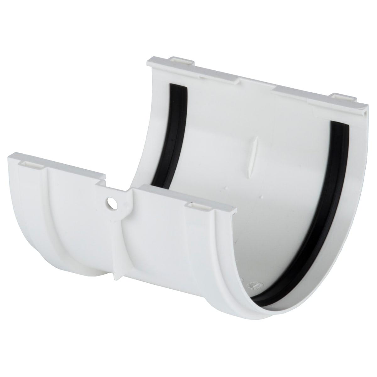 Соединитель желобов Dacha 120 мм цвет белый