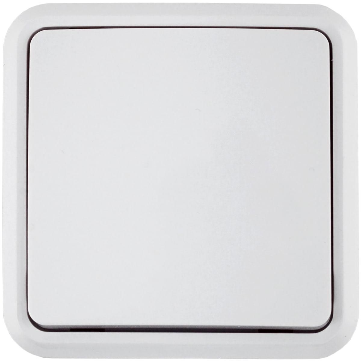 Выключатель накладной Lexman First 1 клавиша, цвет белый