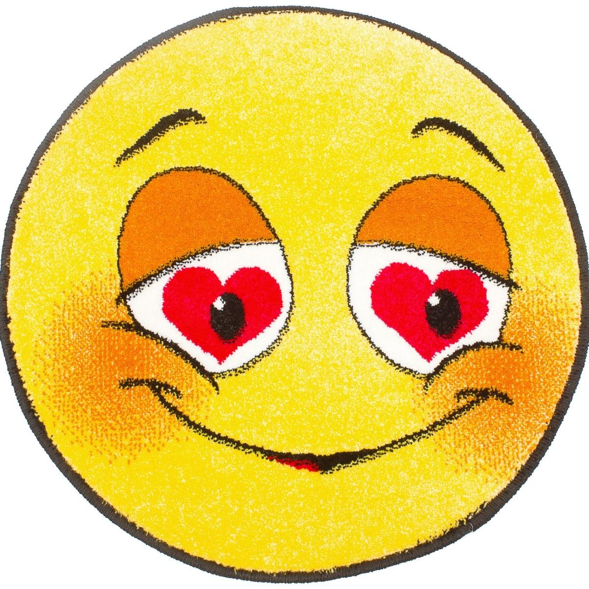 Ковёр  «Smiles» диаметр 0,67 м полипропилен