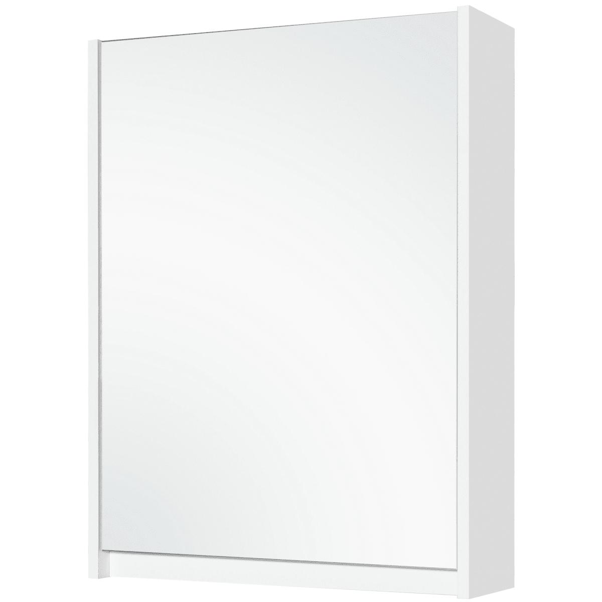 Шкаф зеркальный «Квадро» 60 см цвет белый