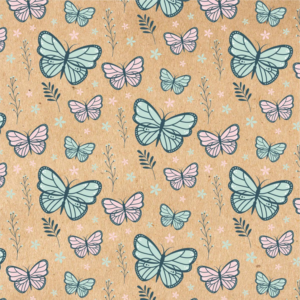 Бумага упаковочная крафт «Бабочки» 50х70/2 листа