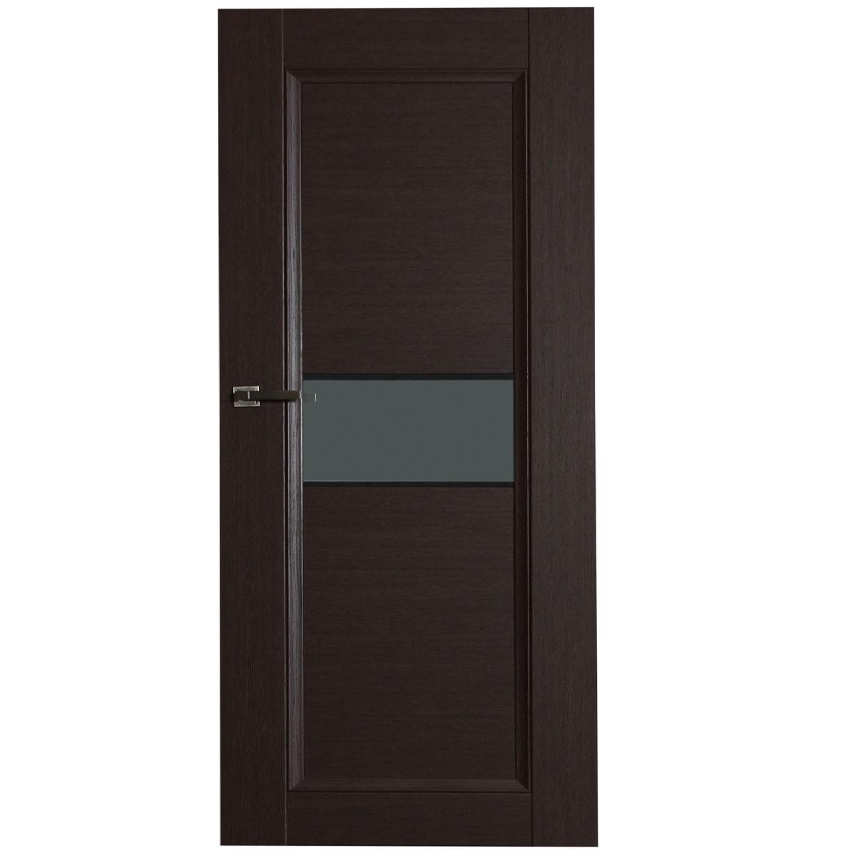 Дверь межкомнатная остеклённая Конкорд cpl 70x200 см цвет черный дуб