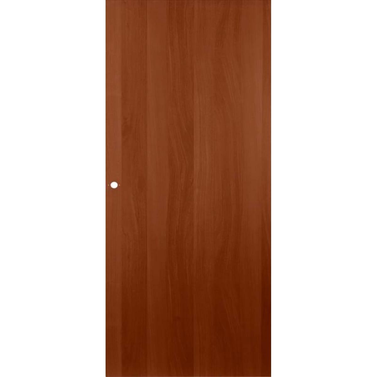 Дверь межкомнатная глухая ламинированная 80x200 см цвет итальянский орех