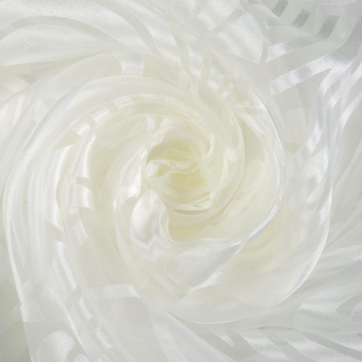 Тюль «Ирис» органза деворе 280 см цвет экрю