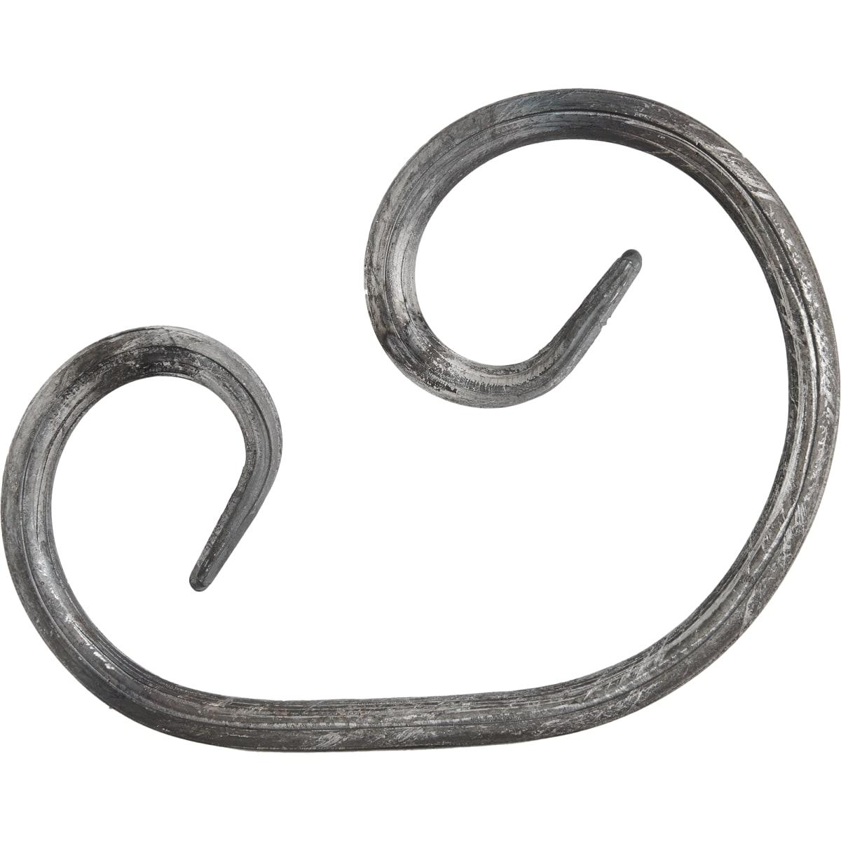 Элемент кованый завиток Лоза ассиметричный 155x115 мм