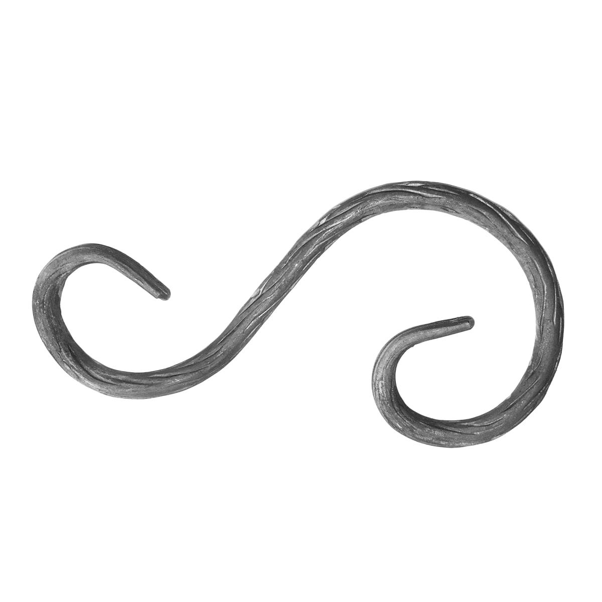 Элемент кованый завиток Лоза S-образный ассиметричный