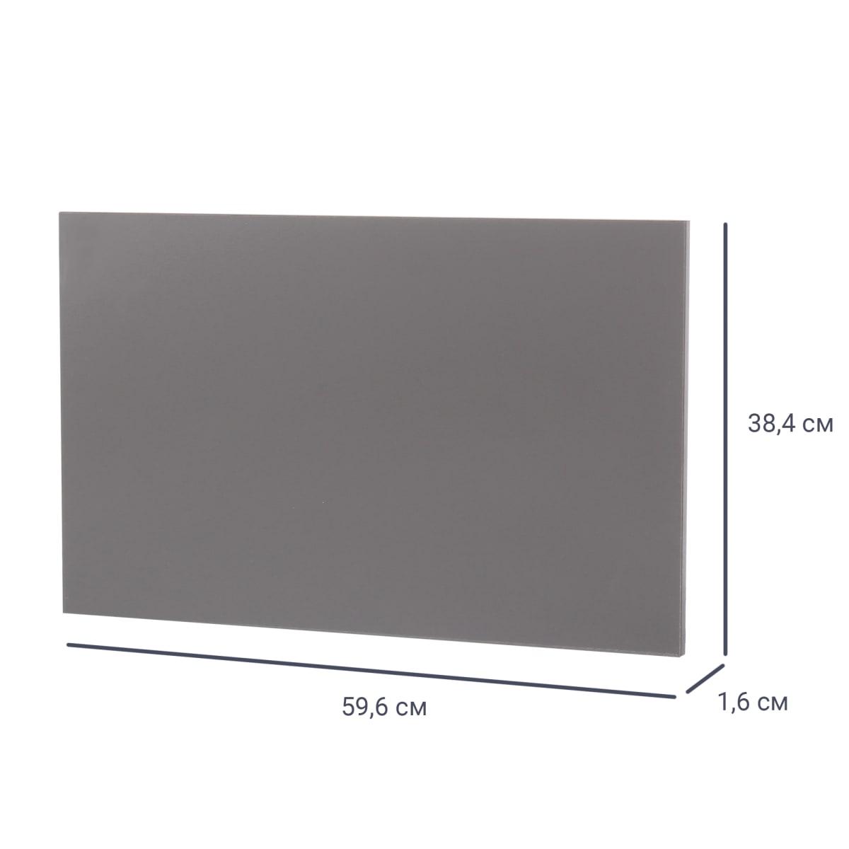 Дверь МФ 38x59,6x1.6 см, цвет графит