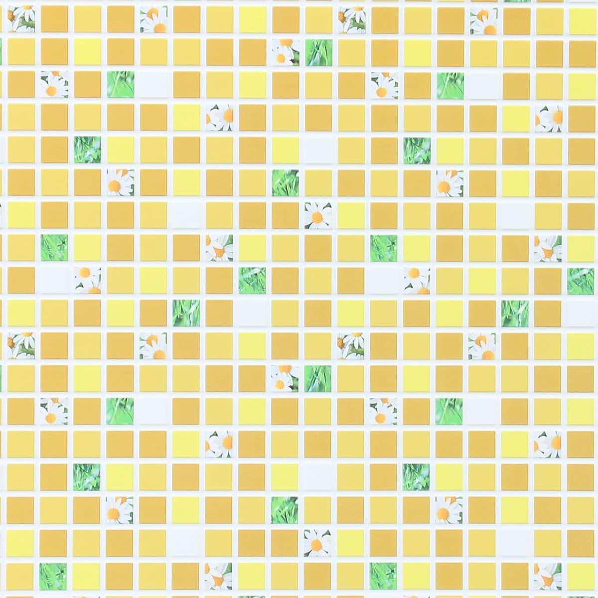 Панель ПВХ Мозаика жёлтая 960х480x3 мм, 0.46 м²