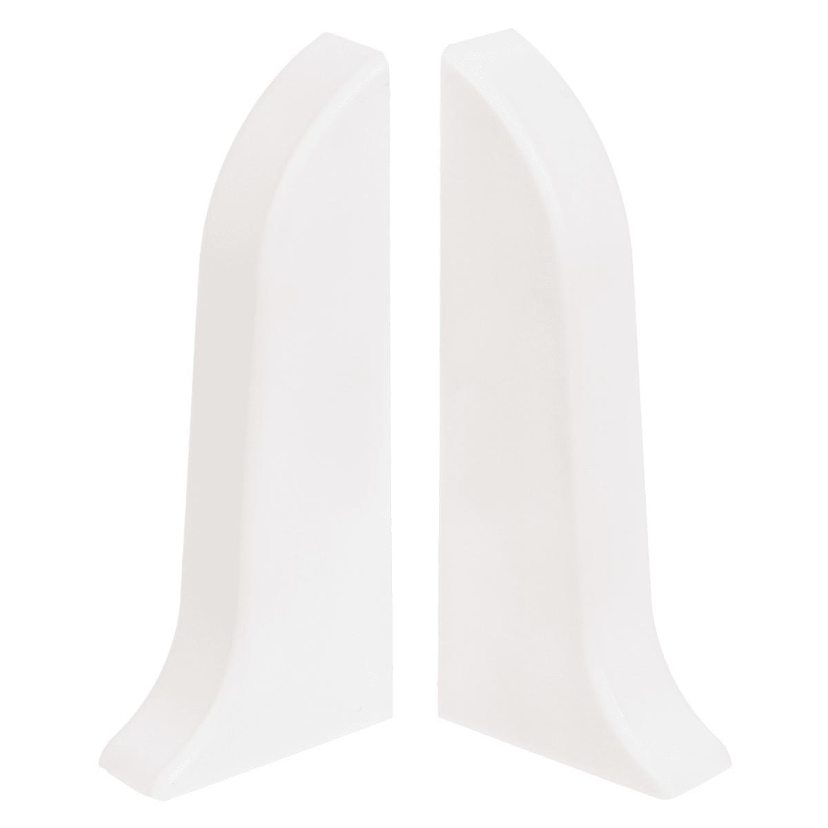 Заглушка для плинтуса левая и правая, 55 мм, цвет белый