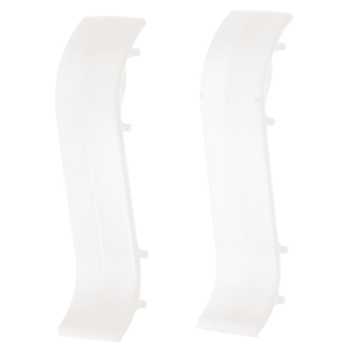 Соединитель для плинтуса, 55 мм, цвет белый, 2 шт.