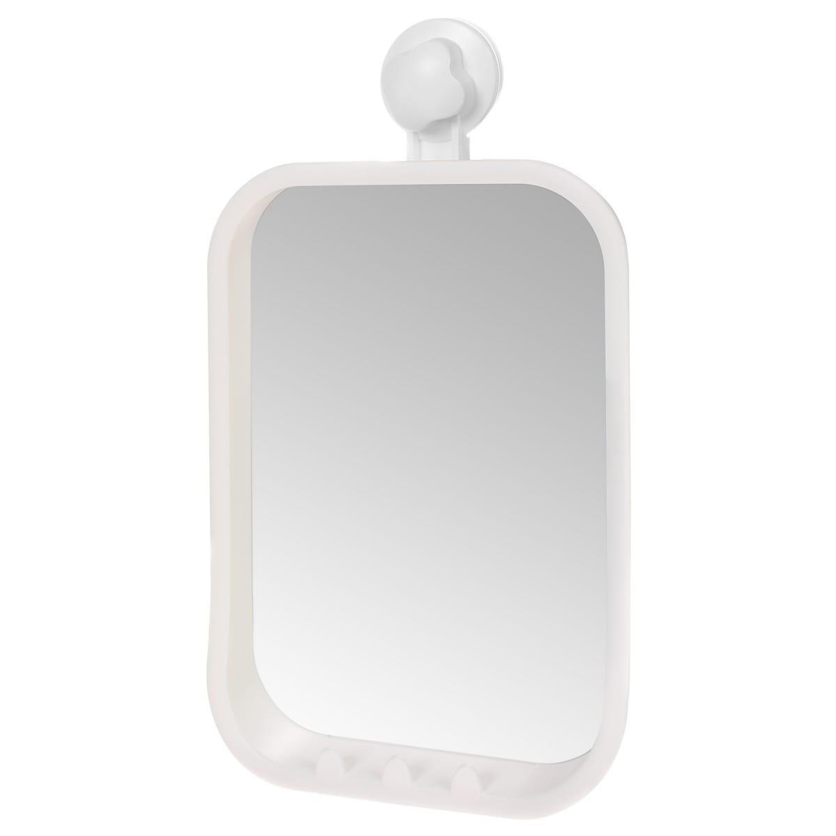 Зеркало косметическое Grampus на вакуумной присоске 21х36 см материал пластик