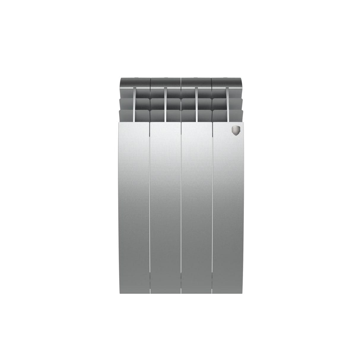 Радиатор Royal Thermo BiLiner 500 4 секции, Silver Satin
