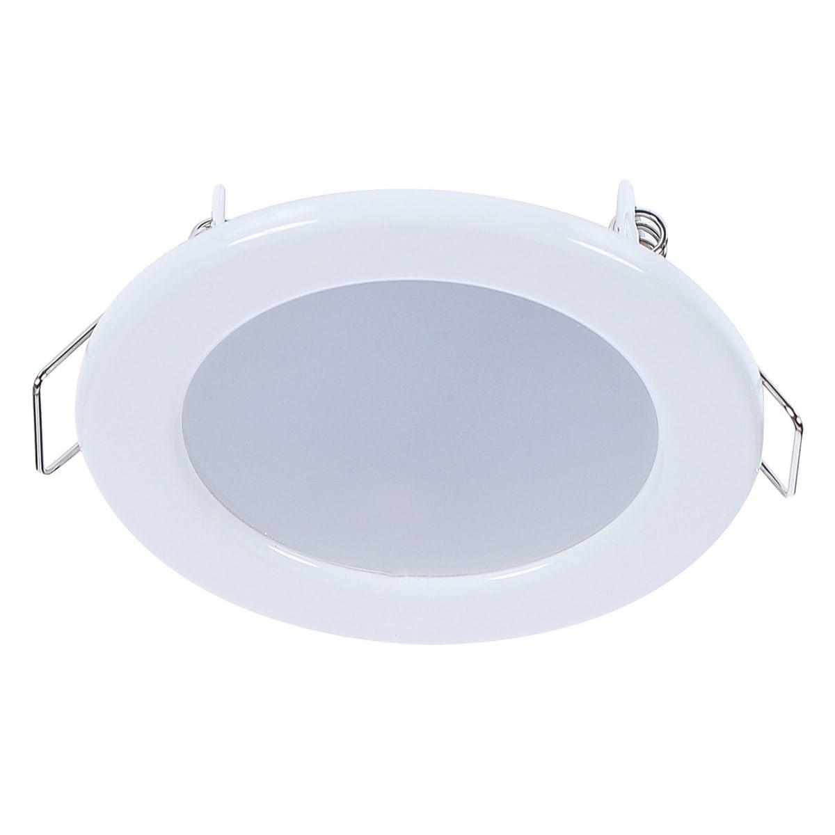 Светильник светодиодный встраиваемый «Стандарт», 4 Вт, 280 Лм, 220 В, цвет белый, свет дневной белый