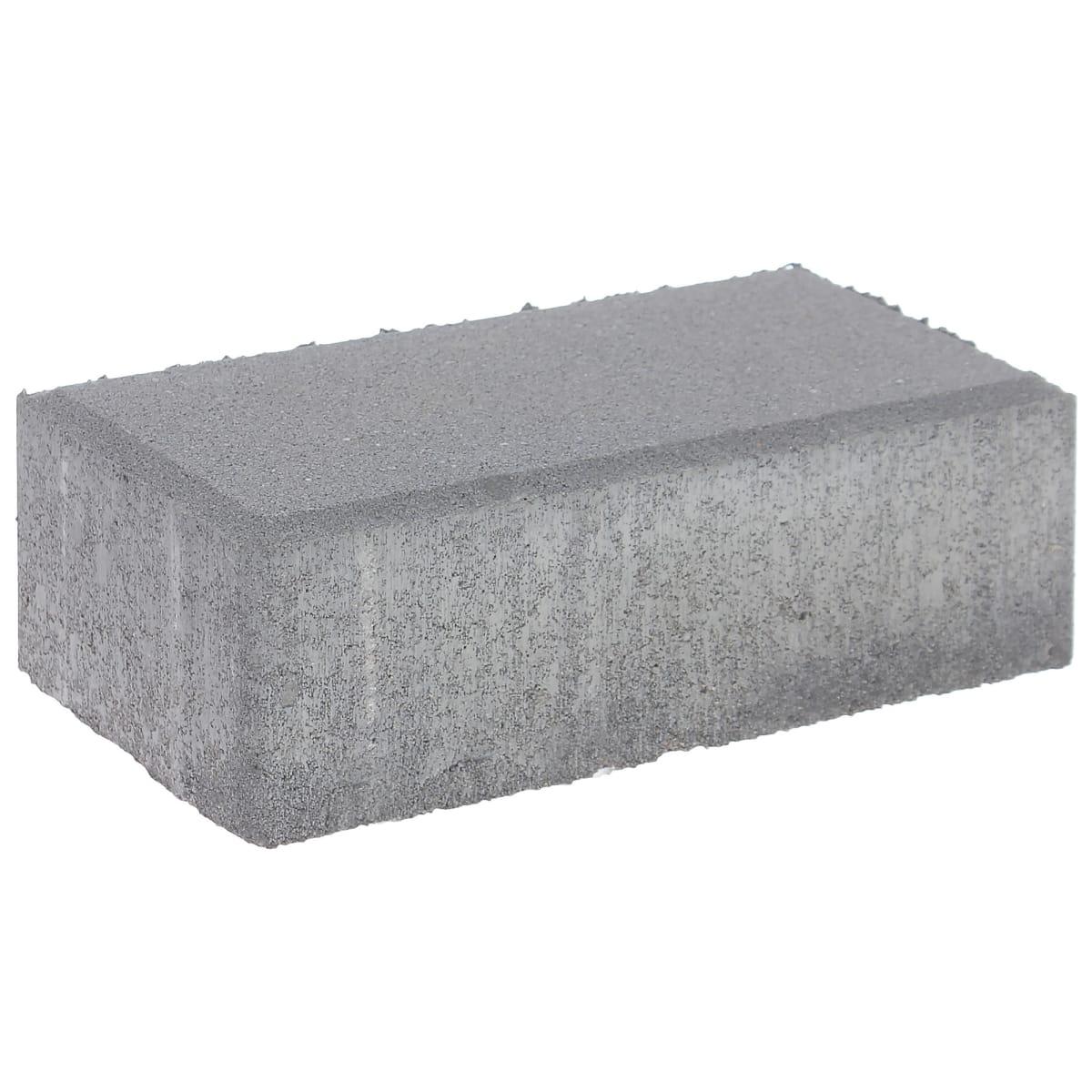 Плитка тротуарная двухслойная Braer 200х100x40 мм цвет серый