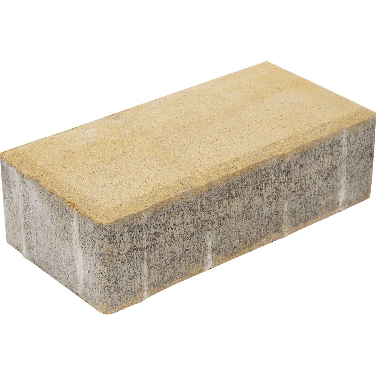 Плитка тротуарная прямоугольная Braer 200х100x60 мм цвет песочный