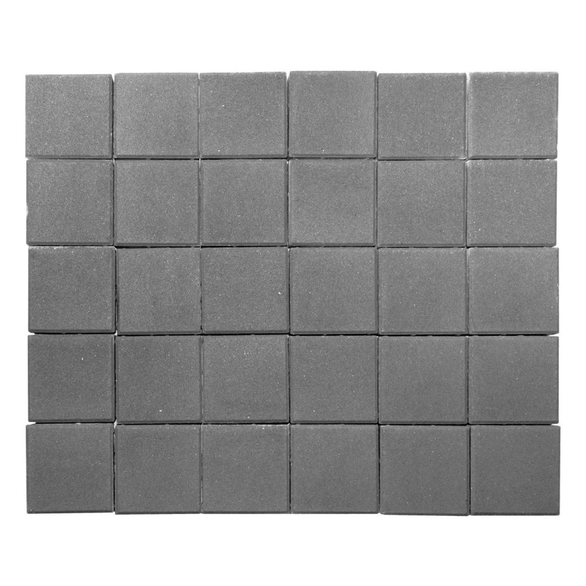 Плитка тротуарная двухслойная Braer Лувр 200х200x60 мм цвет серый