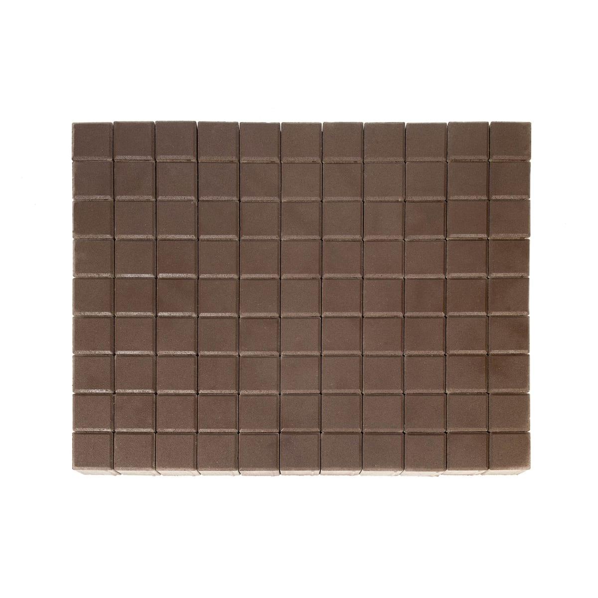 Плитка тротуарная двухслойная Braer Лувр 100х100x60 мм цвет коричневый