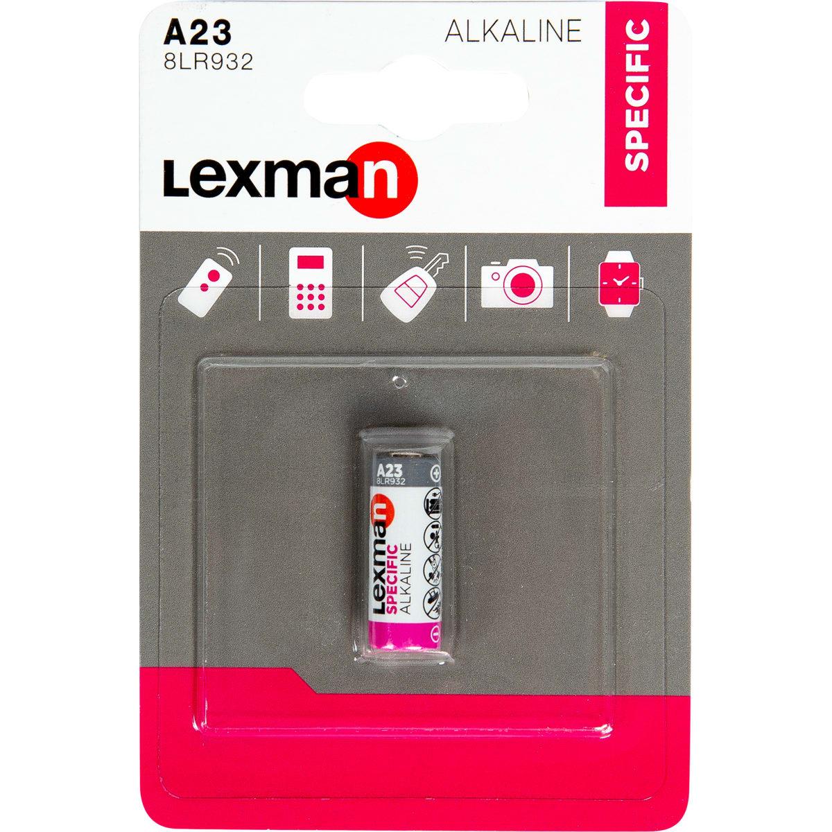 Батарейка алкалиновая Lexman V23, 1 шт.