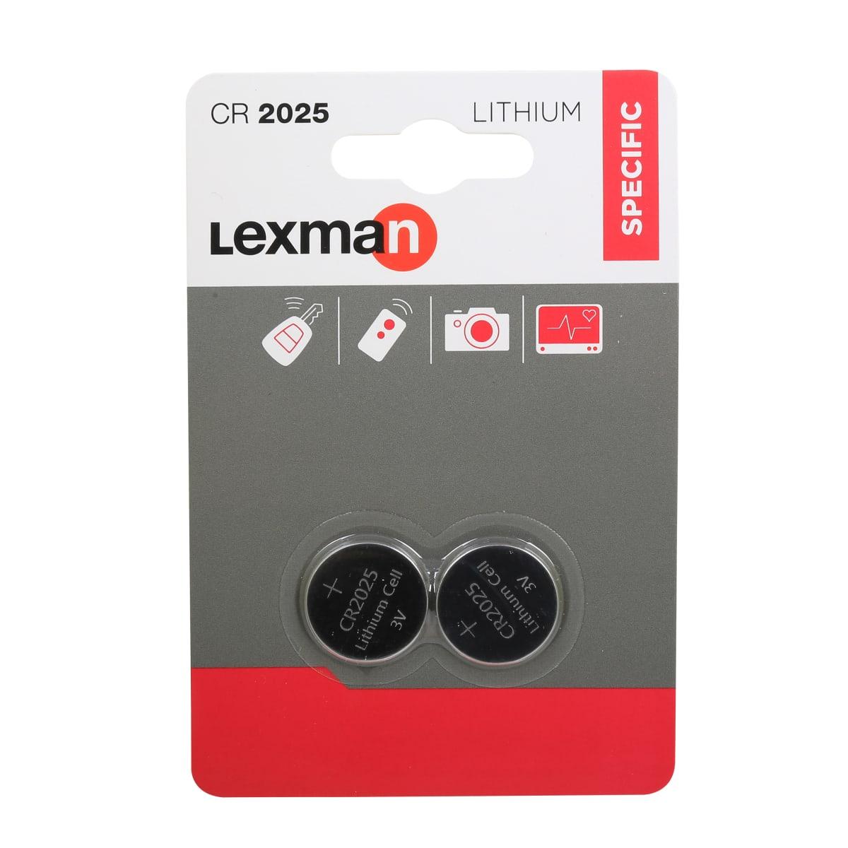Батарейка литиевая Lexman CR2025, 2 шт.