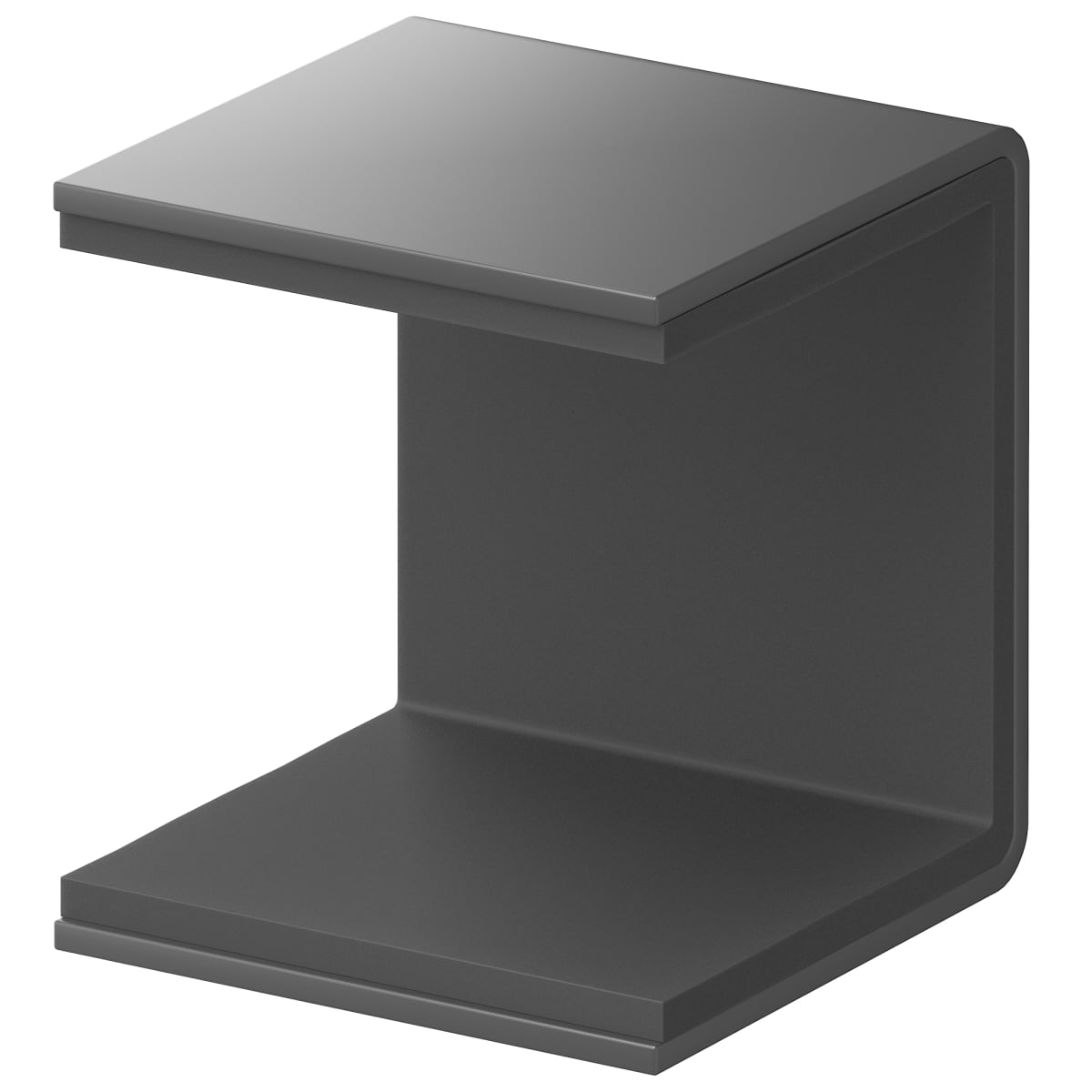 Скоба крепёжная для полки Spaceo KUB Paris 35 мм металл цвет черный