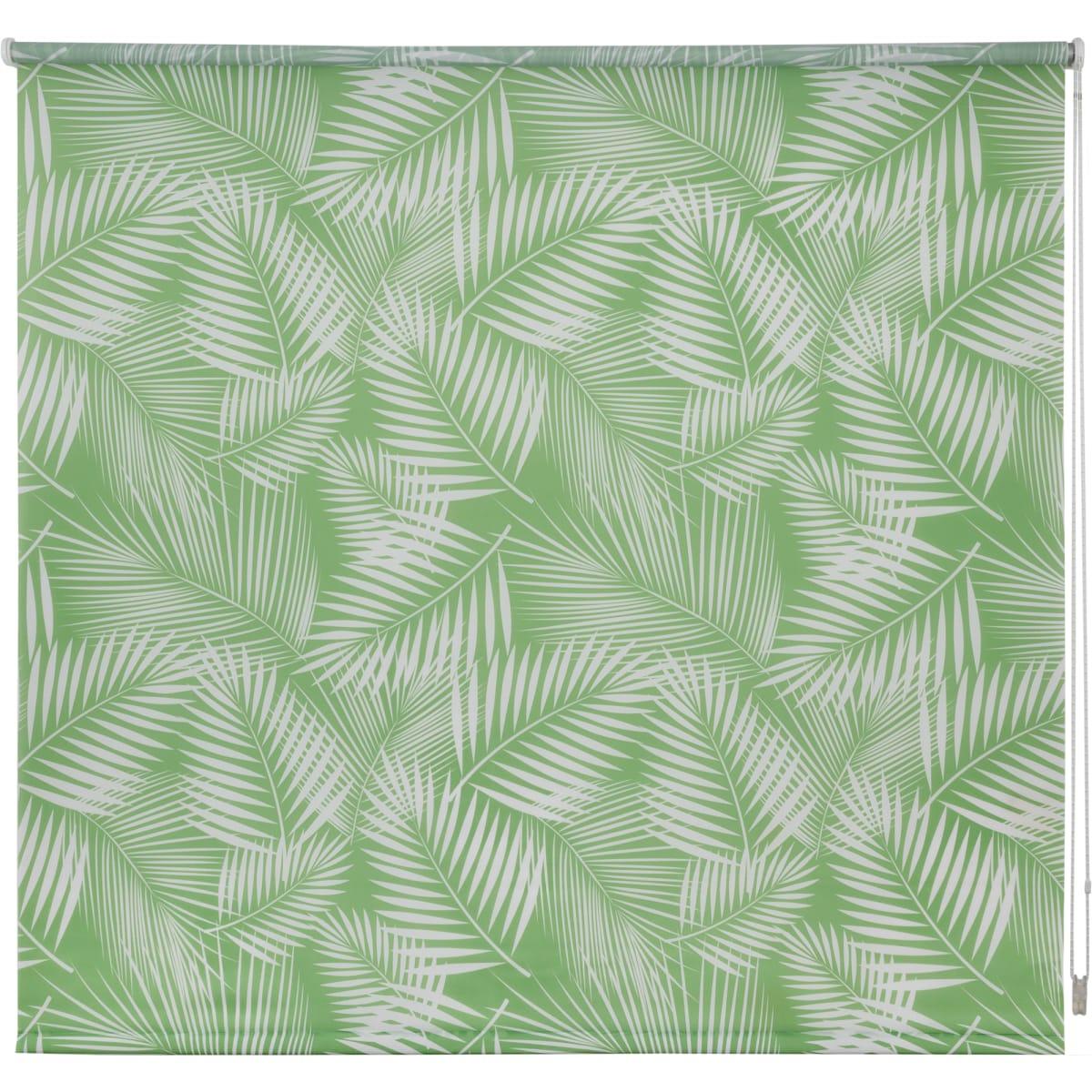 Штора рулонная «Тропики», 180х175 см, цвет салатовый