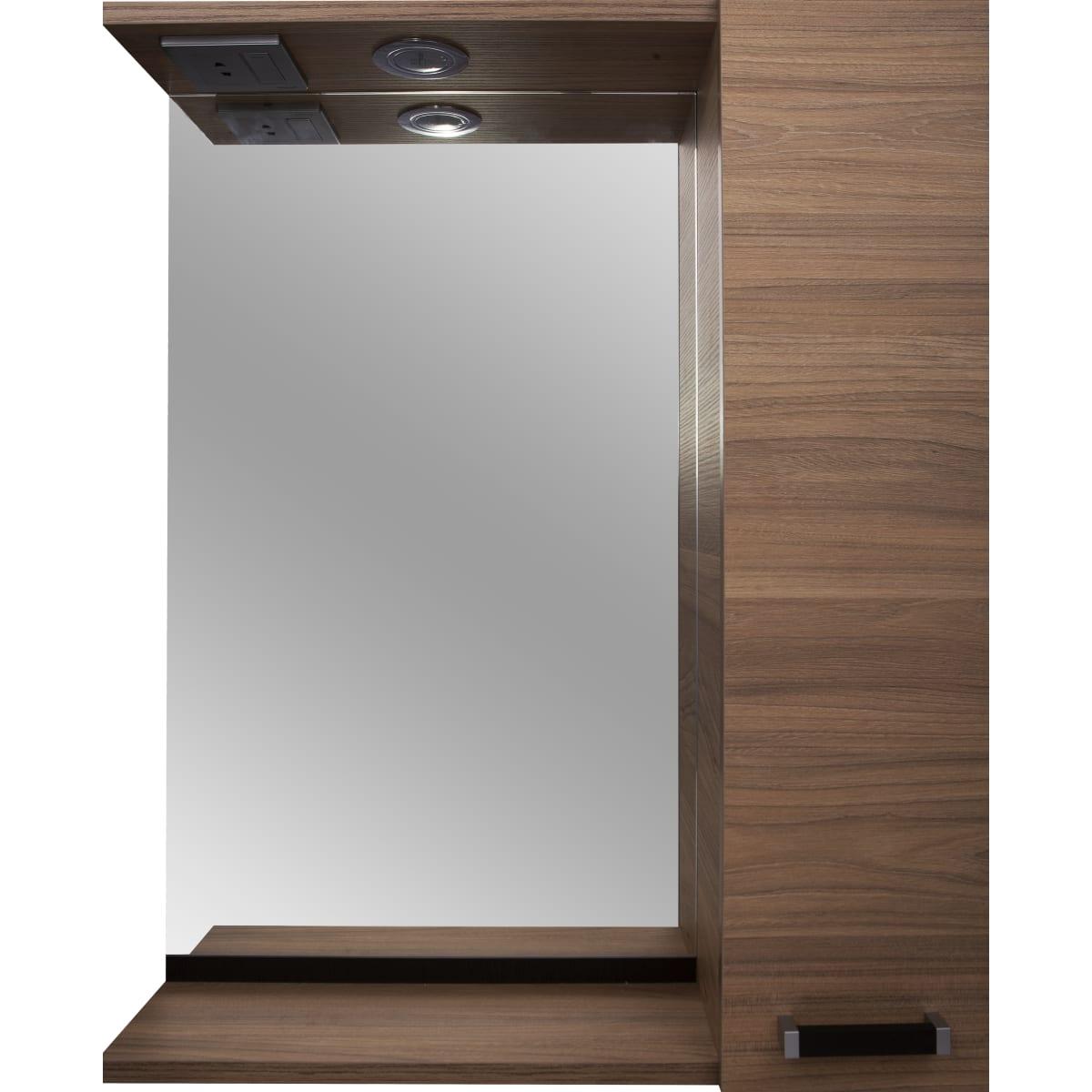 Шкаф зеркальный «Торонто» 60 см, цвет швейцарский вяз