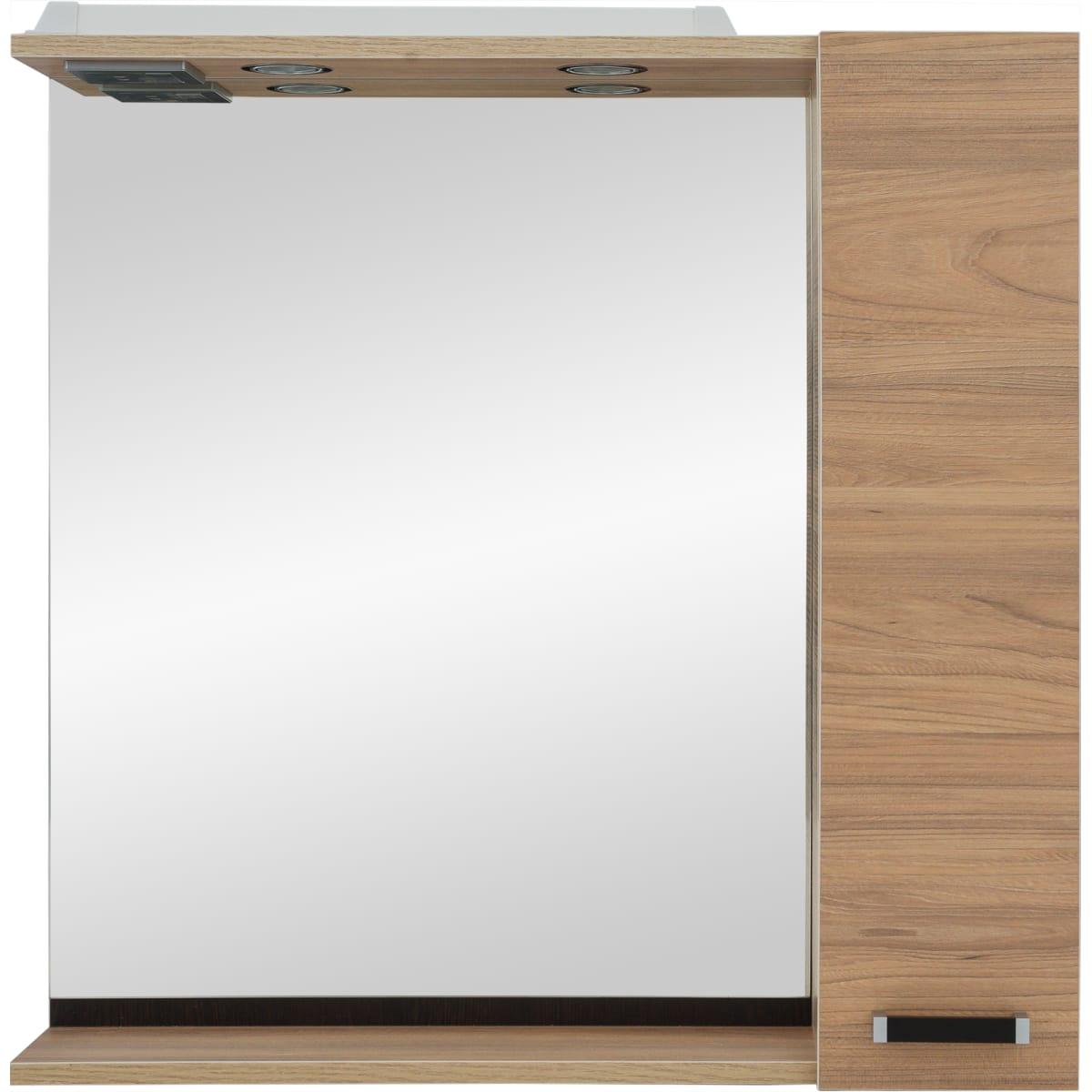 Шкаф зеркальный «Торонто» 75 см, цвет швейцарский вяз