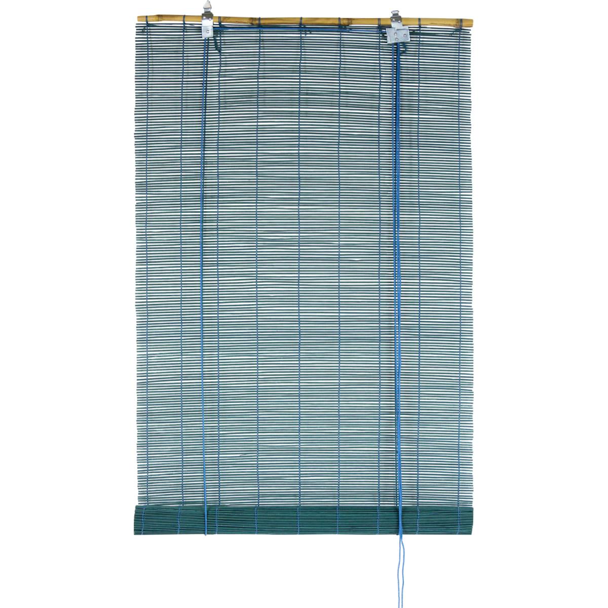 Штора рулонная «Бамбук» 60Х160 см, цвет бирюзовый
