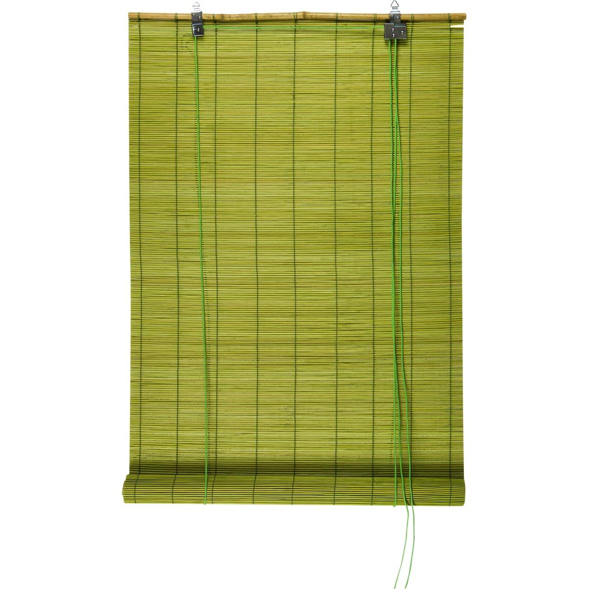 Штора рулонная «Бамбук» 60х160 см, цвет зелёный