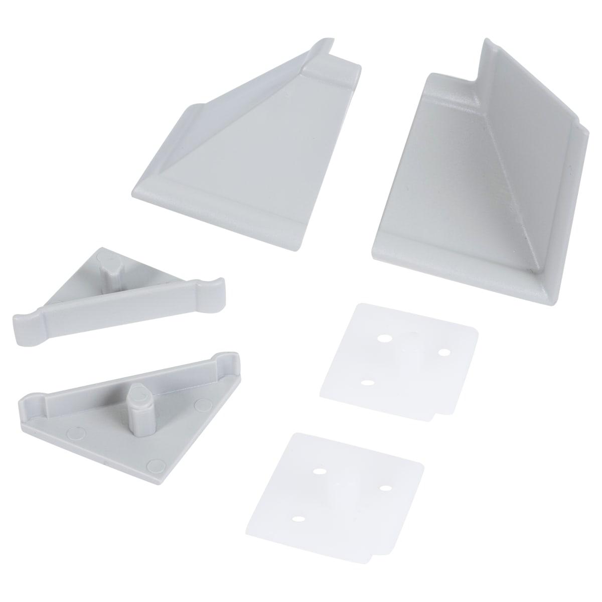 Комплект для установки плинтуса, цвет серый
