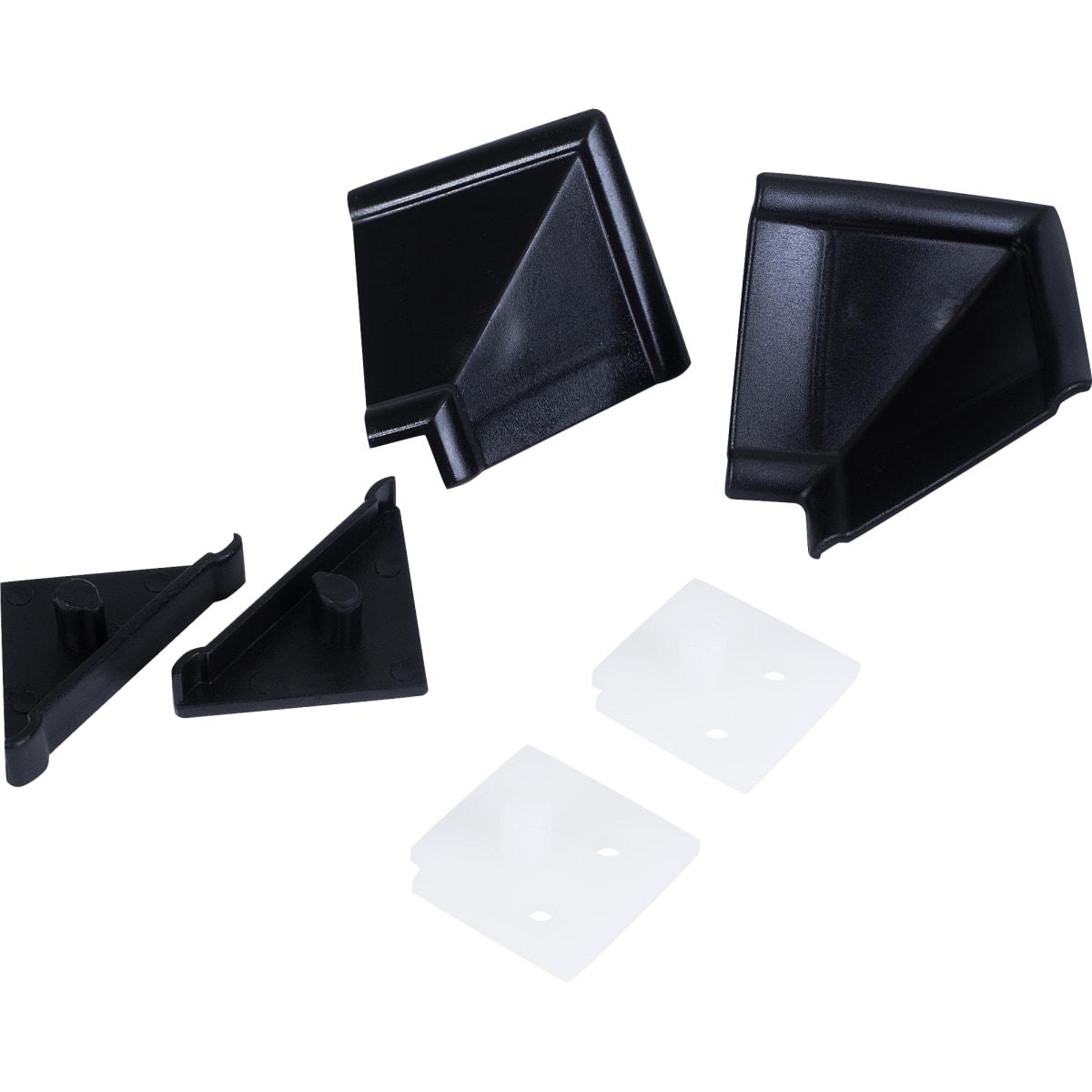 Комплект для установки плинтуса, цвет чёрный