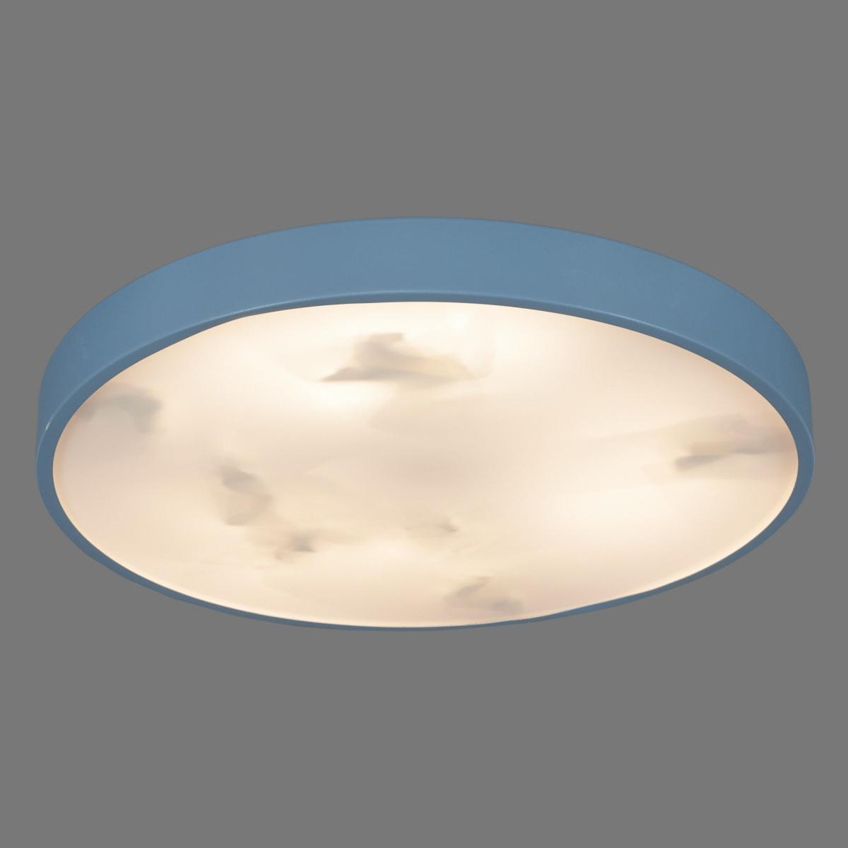 Светильник потолочный светодиодный Color, 25 м², регулируемый цвет света RGBW, цвет синий