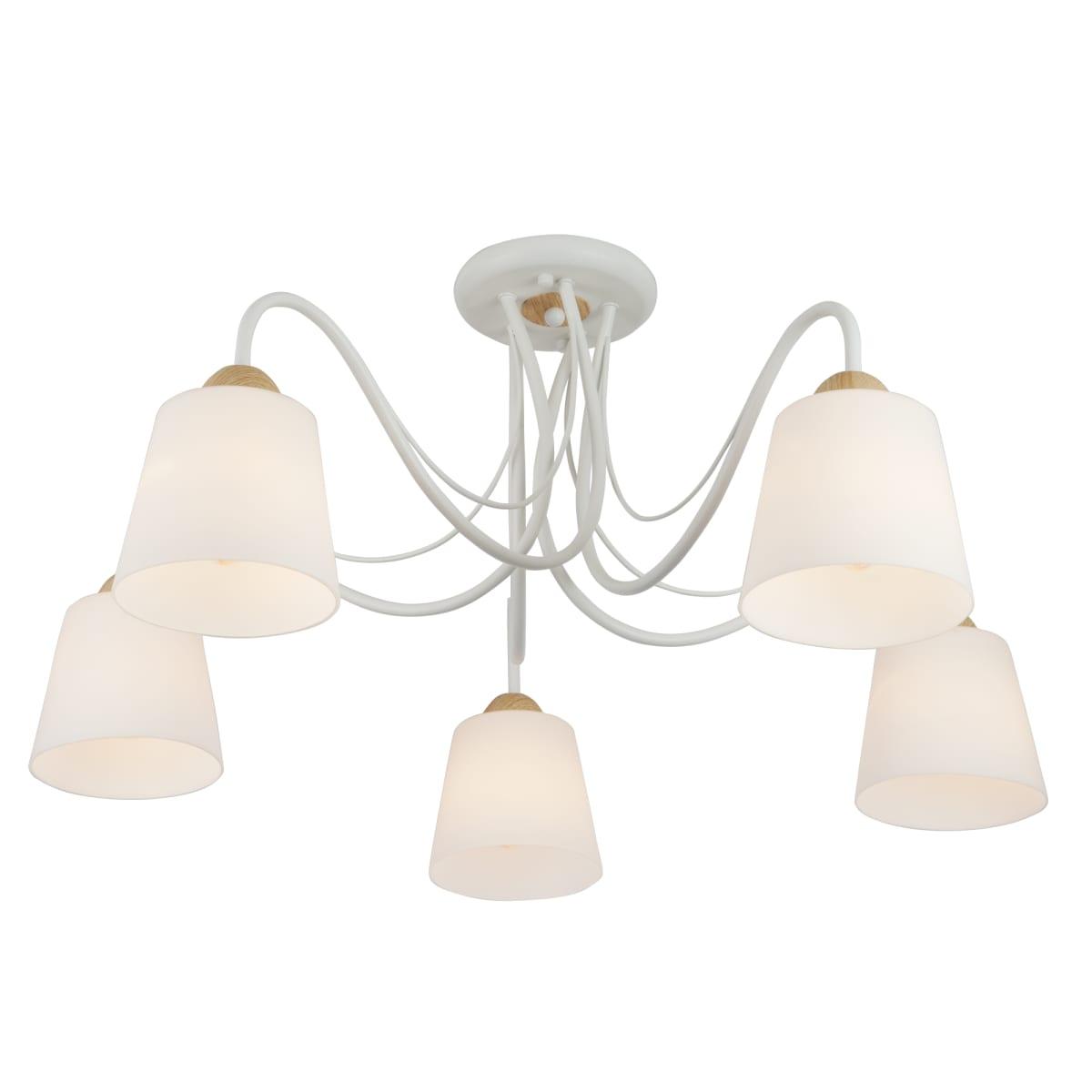 Люстра потолочная Eurosvet Betty 70062/5, 5 ламп, 16 м², цвет белый