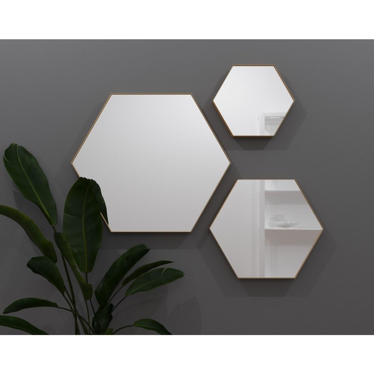 Зеркало Ferro 50х43 см цвет золотой