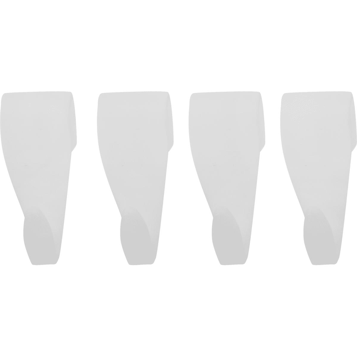 Набор крючков, пластик, цвет белый, 4 шт.