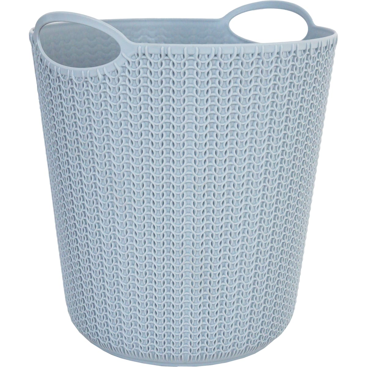 Корзина для мусора «Вязание», 260х290х260 мм, 10 л, цвет серый