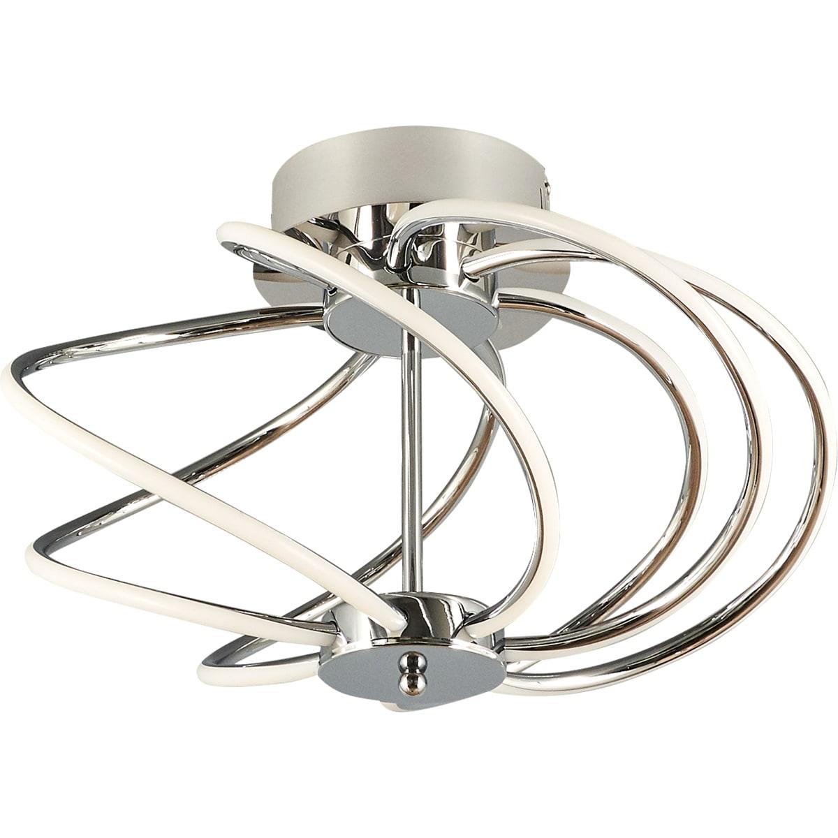 Светильник потолочный светодиодный «Preli» с пультом управления, 18 м², регулируемый свет, цвет серебристый/белый