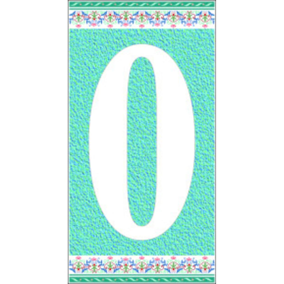 Цифра «0» самоклеящаяся 145x75 мм пенополиэтилен цвет глянцевый голубой