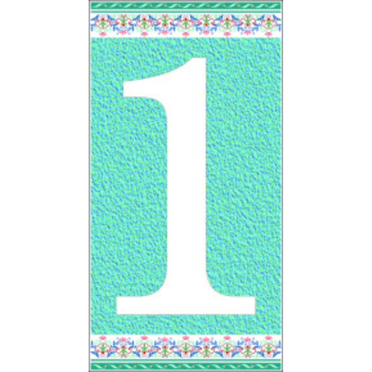 Цифра «1» самоклеящаяся 145x75 мм пенополиэтилен цвет глянцевый голубой
