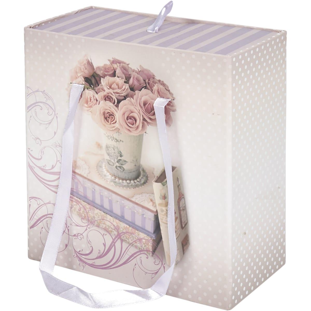 Коробка подарочная 77309, картон, 16х16х8 см