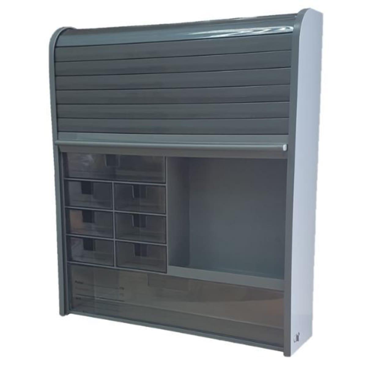 Шкаф-аптечка подвесной 42x48 см цвет графит