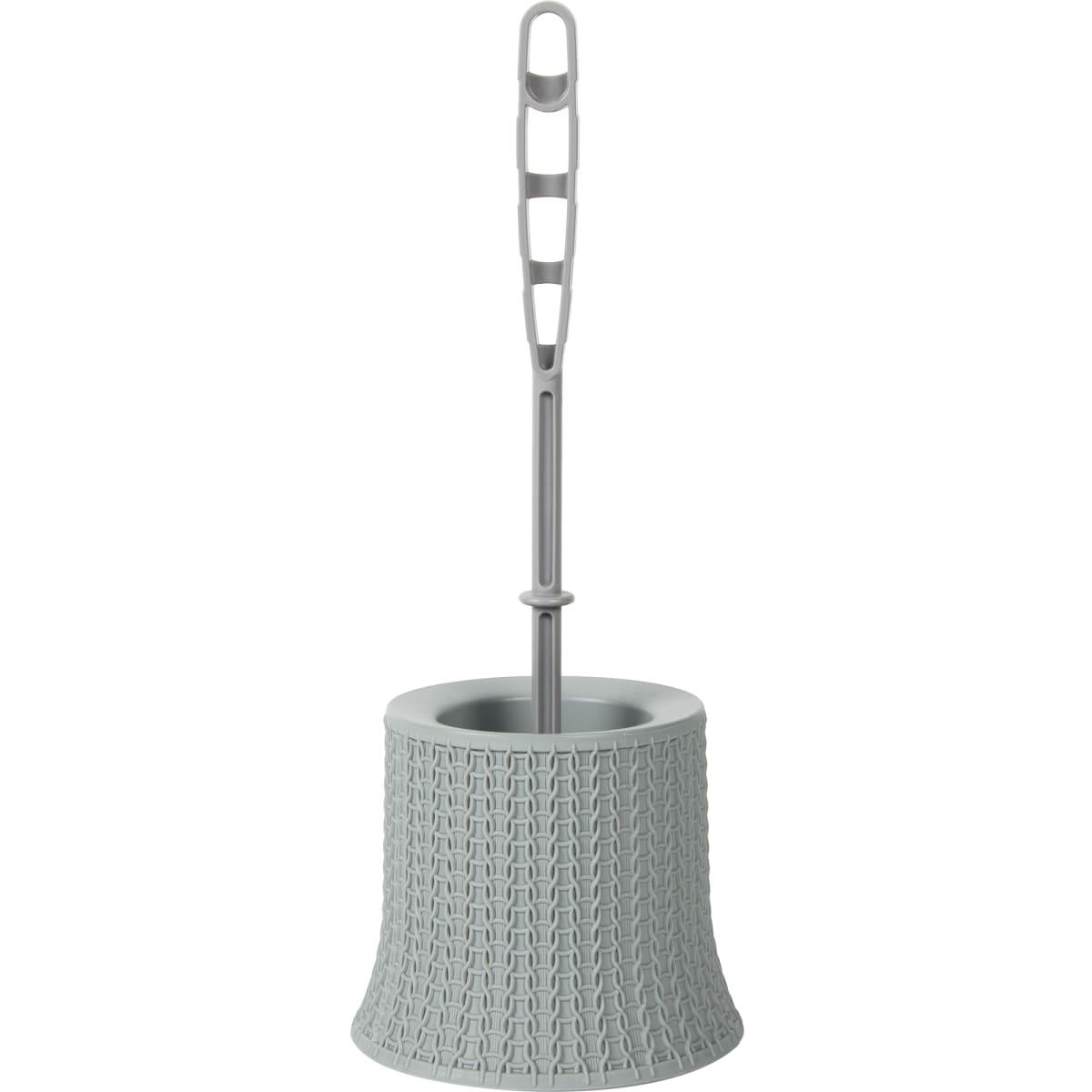 Ёрш для унитаза «Вязание» цвет серый